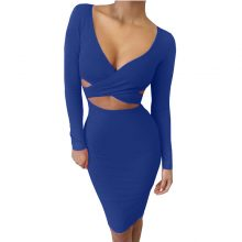 Criss Cross Bandage Bodycon Dress