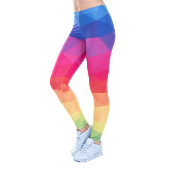 Rainbow High Waisted Leggings