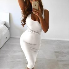 Sexy Sleeveless Tank Bodycon Dress