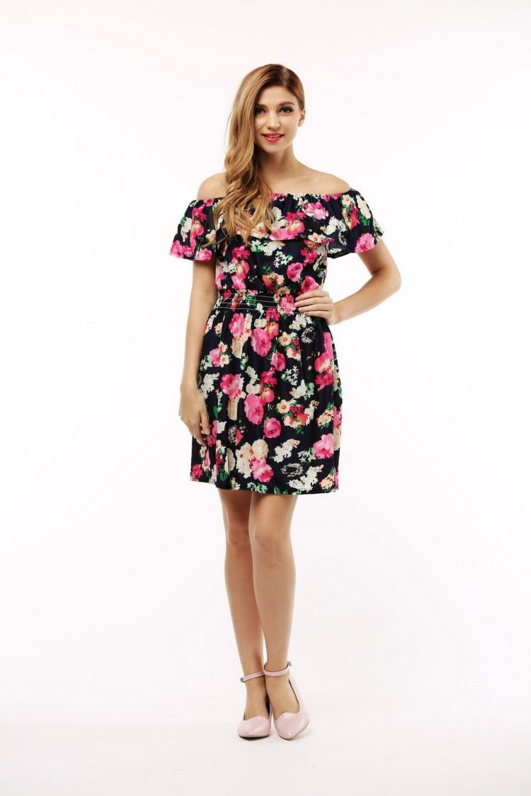 Summer Clothes For Teenage Girls: Fashion Floral Print Summer Dresses