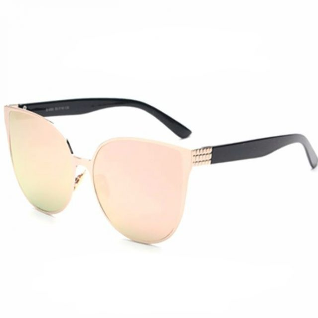 Oversized Mirror Cat Eye Sunglasses