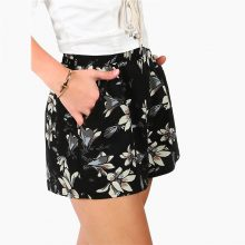 Women's Casual Shorts with Beautiful Flowers