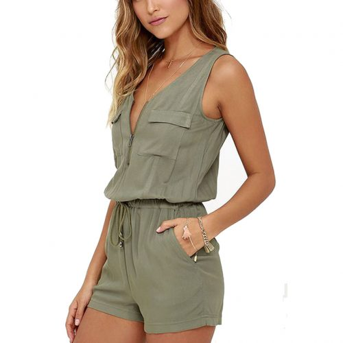 Women's Sleeveless Jumpsuit - Fashion Trendy Shop