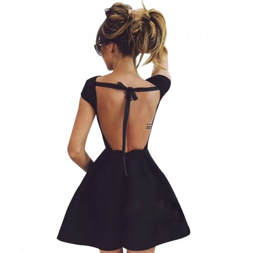 Backless Bandage Party Dress - Fashion Trendy Shop