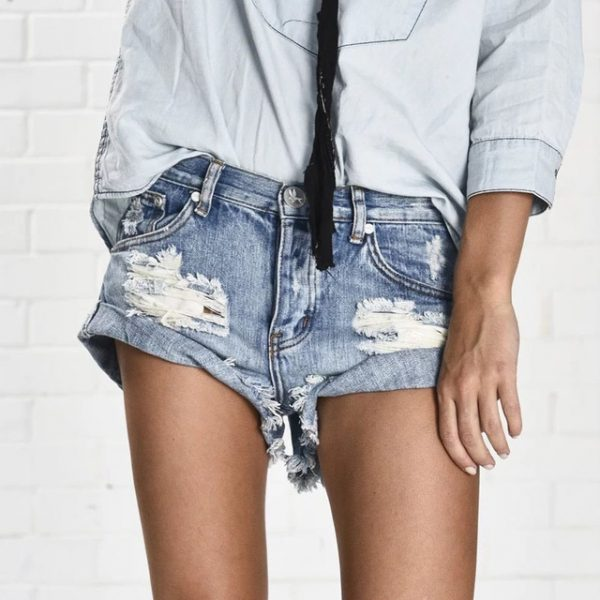 Vintage Ripped Shorts for Women - Fashion Trendy Shop