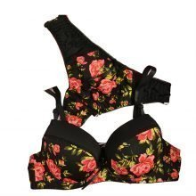 Floral Print Bra and Panty Set