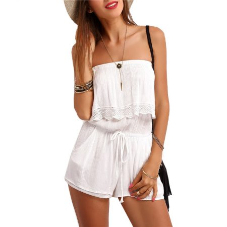 White Strapless Romper - Fashion Trendy Shop