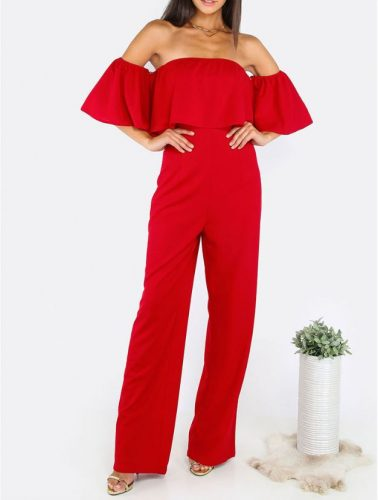 Off-shoulder Long Jumpsuit for Women - Fashion Trendy Shop