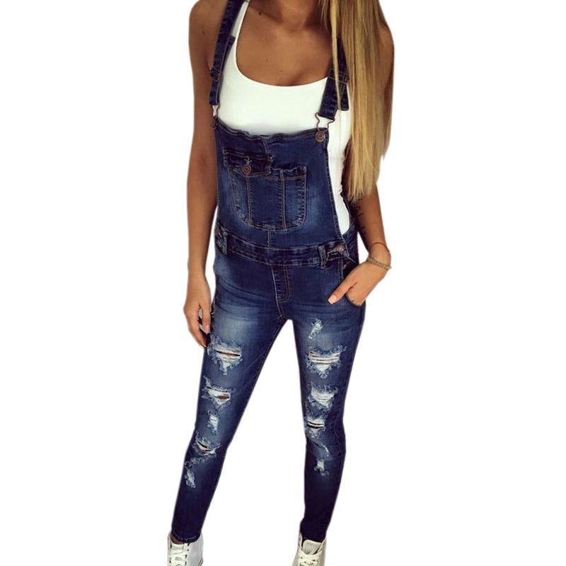 Womens Blue Denim Jumpsuit - Fashion Trendy Shop