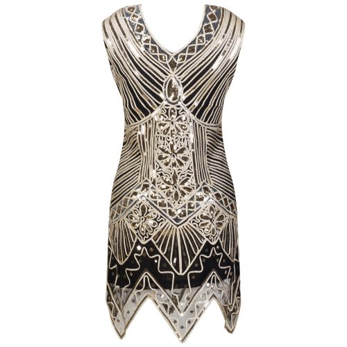 Sequin 1920s Great Gatsby Dress - Fashion Trendy Shop