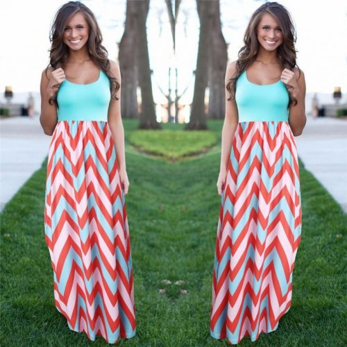 Sleeveless Summer Maxi Dress - Fashion Trendy Shop