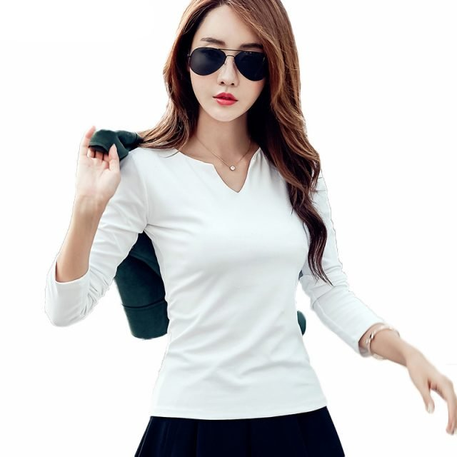 Women's Long Sleeve Cotton Pullover