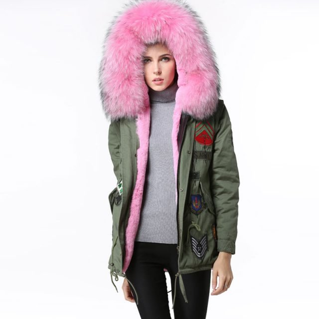 Women's Luxury Hooded Fur Coat