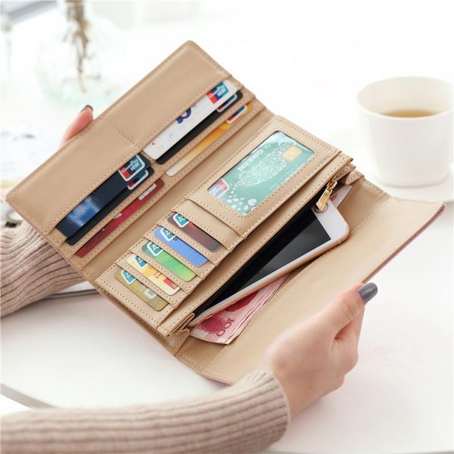 Candy Colour Leather Coin Wallet