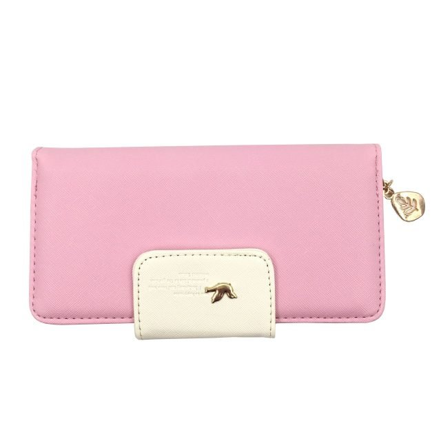 Cute Long Leather Zip Wallet