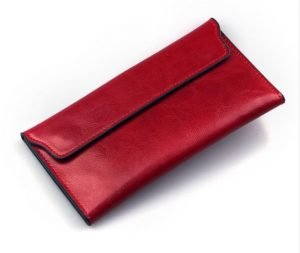 Cute Long Slim Leather Wallet
