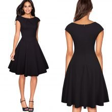 Elegant Women's A-Line Swing Dress