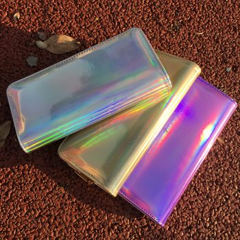 Hologram Zipper Long Awesome Wallets