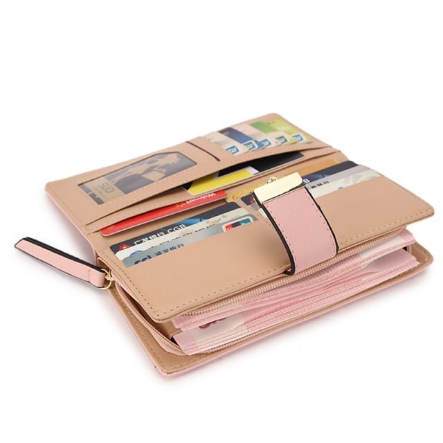 Long Leaf Print Pretty Wallets
