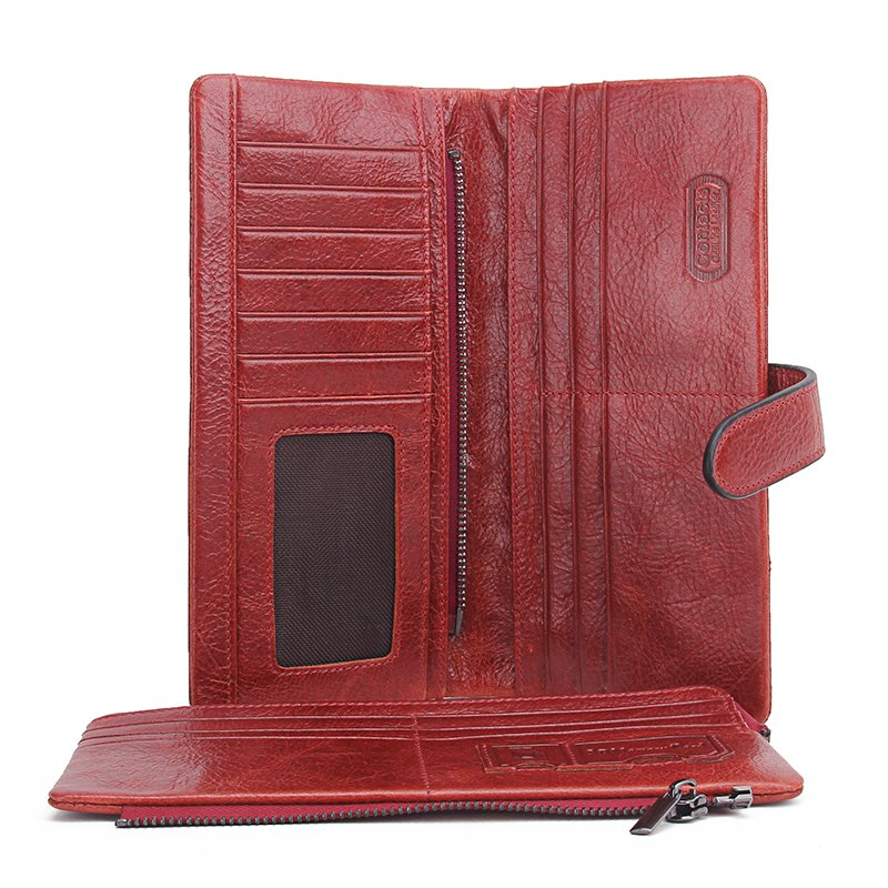 Long Leather Money Wallet
