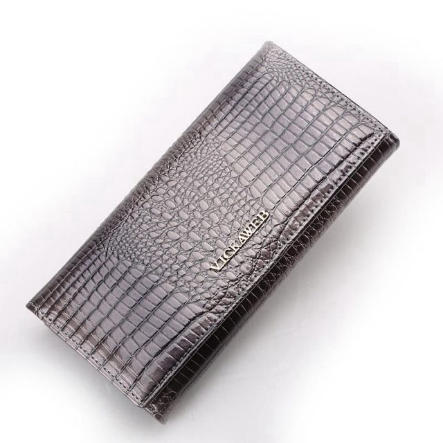 Patent Leather Long Alligator Wallet