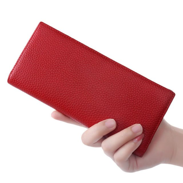 Red Leather BiFold Wallet