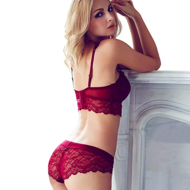 Sexy Red Bra and Knickers Set