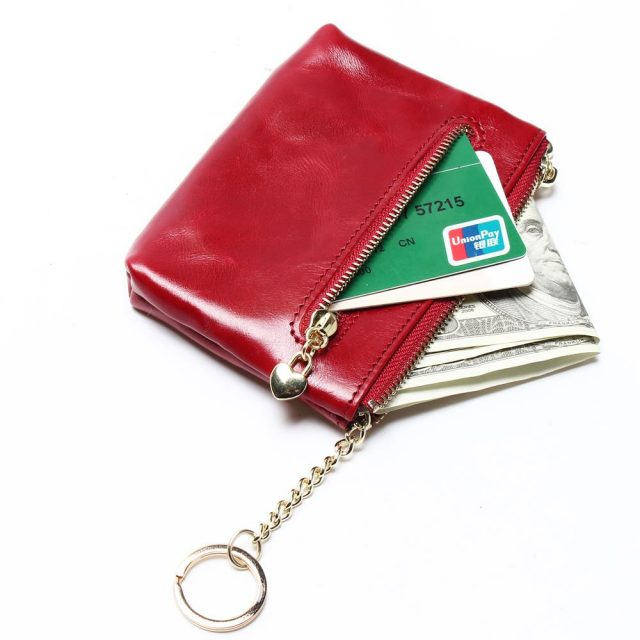 Small Leather Red Little Purse