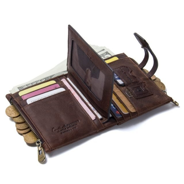 Small Womens Brown Leather Wallet