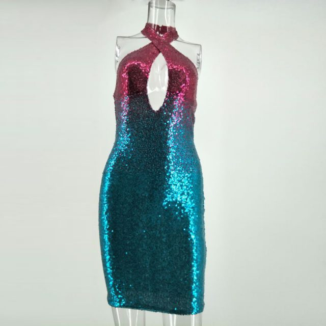 Strapless Sequin Club Dress