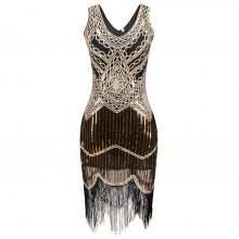 Vintage Cocktail Dress with Fringe