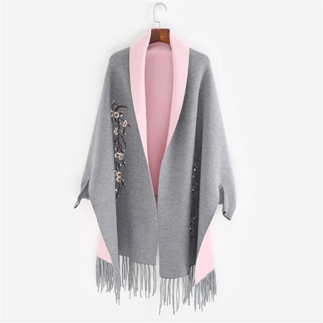 Women's Elegant Warm Embroidered Cardigan