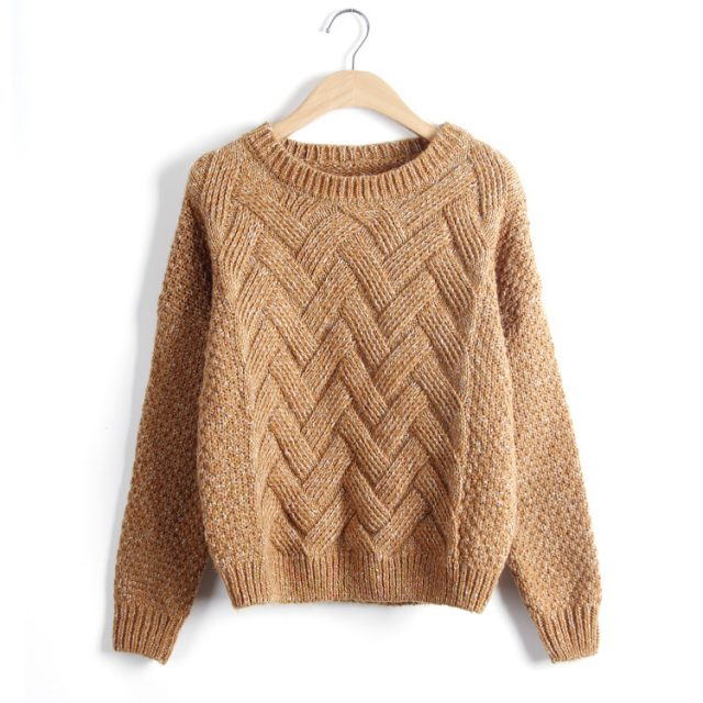 Women's Warm Cable Knit Sweater