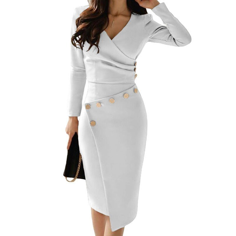long-sleeve-ruched-bodycon-dress