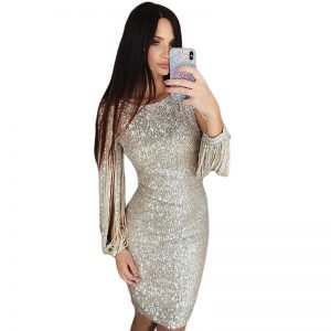 long-sleeve-sequin-bodycon-dress