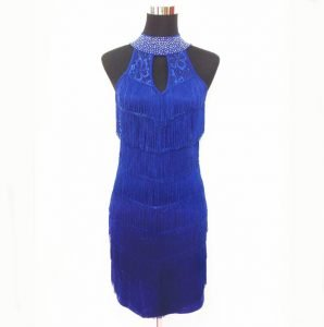 1920s mini dress for women in blue