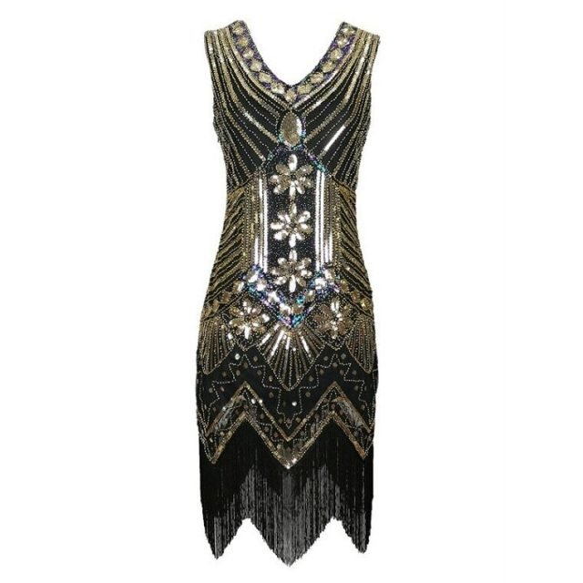20-s-style-flapper-dresses-in-gold-and-black