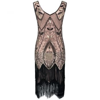 20s flapper costume for women in pink