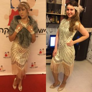 Fringe flapper dress for women