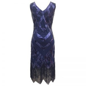 Navy blue 1920s dress for women