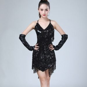 Retro 1920s dresses for women in black