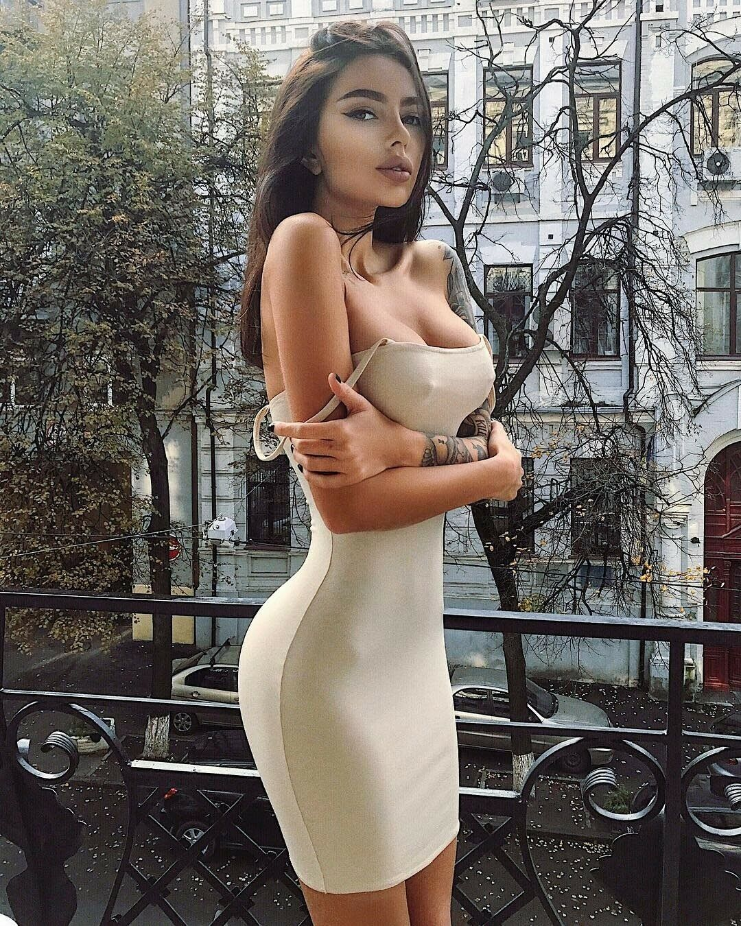 Sexy khaki thin strap mini dress