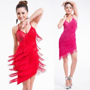 Sequin and fringe dress for women