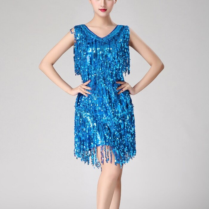 Turquoise fringe dress for women