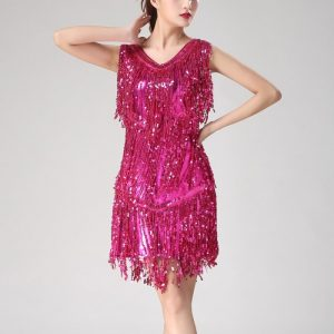 Vintage fringe dress for women