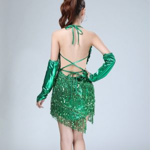 dark green flapper dress for women