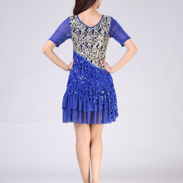 flapper costume with sleeves in blue