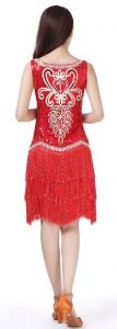gatsby fancy dress for women in red