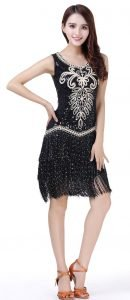 Ladies flapper costume in black