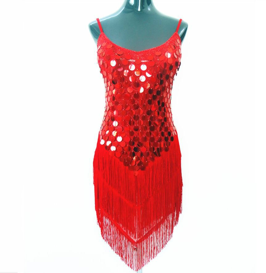 petite 1920s dress for women in red